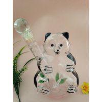 熊猫造型玻璃酒瓶空心国宝白酒瓶异形吹制玻璃酒瓶个性白酒瓶吹制白酒瓶