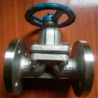 304不锈钢法兰隔膜阀 手动切断法兰隔膜阀 水蒸汽专用 G41W-10P DN15