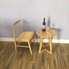 进口白橡餐椅子系列 牛角实木椅子 北欧靠背餐椅 家庭用餐椅