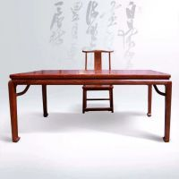 优级刺猬紫檀红木学习桌电脑桌办公桌大全 名琢世家