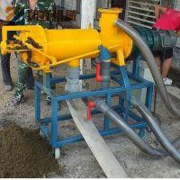 现货环保节能养殖户专用粪便螺旋脱水机 粪便污水固液分离机