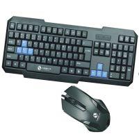 力美L36 电脑USB键盘鼠标 有线防水家用办公商务游戏键鼠套装全黑