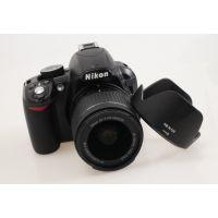 尼康D3300 D5500 单反相机 AF-P 18-55镜头HB-N106遮光罩 55mm