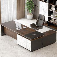 老板桌总裁桌大气班台总经理办公桌单人办工桌简约现代办公家具