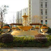 晚霞红石雕喷泉 五莲红户外石材喷水池 黄锈石喷泉 一手供应价格