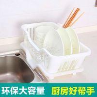 厨房用品用具小百货 沥水架洗碗池收纳架洗碗槽带盘凉碗架控水架