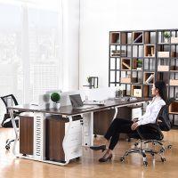 成都职员办公桌2/4/6/8人位现代简约办工桌组合员工位桌办公家具