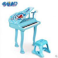 哆啦A梦 儿童玩具电子琴麦克风女孩小钢琴宝宝婴儿益智早教音乐