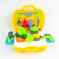 仿真过家家儿童玩具套装 迷你高级餐具手提箱 益智DIY学习玩具