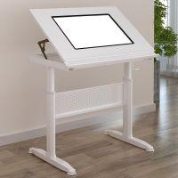 创点星界简约现代钢木动漫画拷贝绘图桌 书法临摹桌书画设计师书桌工作台画架