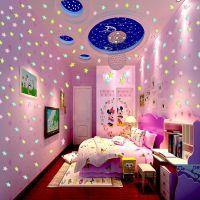 JSH3d立体女生夜光星星墙贴蝴蝶装饰品卧室房间浪漫温馨摆设创意
