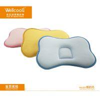 泉州沃尔康直销 3D婴儿枕头 冬夏两用防扁头定型枕 婴童卡通睡枕