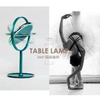 大头人 金属圆形led化妆镜灯 台式创意折叠化妆镜子定制 新品上市