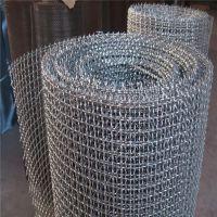 钢丝轧花网厂家 轧花网丝径8mm 黑钢矿筛网