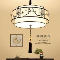 新中式吊灯中国风LED客厅书房吊灯铁艺古典儒雅餐厅茶楼工程灯具