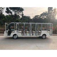 卓越供应国内各地18座封闭电动观光车白色G1S18-FB