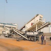 移动山石碎石机砂石生产线 大型建筑石料混凝土破碎站厂家