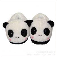 新款韩版熊猫萌款女生家居棉鞋  秋冬家居保暖熊猫全包跟拖鞋