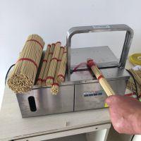 简易操作 框架式佛香捆扎机 自动捆香机型号 捆菜机参数 鲁强机械