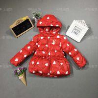 18新款品牌波姆熊棉衣冬季童装批发