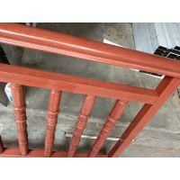 不锈钢木纹楼梯扶手 德和定制金属扶手 别墅酒店不锈钢护栏 厂家护栏价格