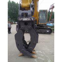 海京HJZ-002360挖机回转式抓木机,挖机改装抓木器,小型抓机夹具