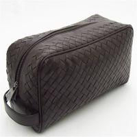 2015编织手拿包男士羊皮洗漱包手工休闲编织手拿包真皮男式旅行包