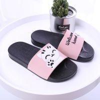 夏季新款拖鞋女亲子儿童平跟软底卡通家居浴室防滑塑料拖鞋厂家