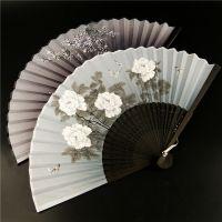 中国风复古扇子折扇真丝绢布扇面流苏随身夏季日式女士小扇子