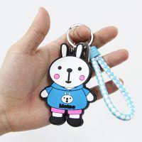 韩国卡通PVC软胶钥匙扣定制公仔创意女生包包钥匙圈汽车钥匙挂件
