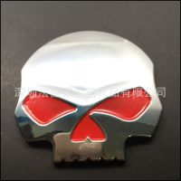 个性标志金属汽车搞怪骷髅头标贴铝制丝印多色汽车标牌铭牌