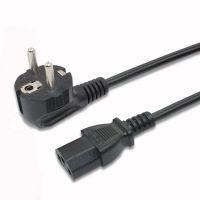 厂家直销 欧标三芯电源线 欧规烟斗插配组带锁品字尾 欧式3*0.75带电脑管