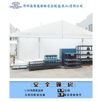 铝合金仓储篷房周边用彩钢板包围具有阻燃和防盗作用