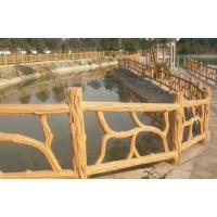 陕西西安宝鸡甘肃天水仿石仿木桥栏护栏生产厂家水泥制品景观园林