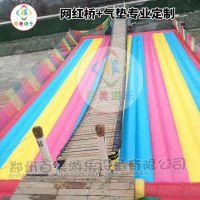 广西崇左景区网红桥搭配充气垫子彩色气垫岂不是更完美