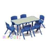 陕西厂家批发幼儿园家具普通塑料圆桌