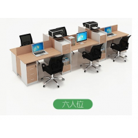 办公家具简约现代工位2/4/6人位屏风卡座职员办公桌椅组合