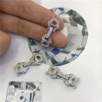 精致小花朵扣子 珍珠项链手链扣子 微镶锆石精品款
