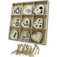 木质工艺品 情人节木质爱心挂件 DIY爱心心形木片 家居装饰