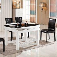 伸缩璃台轨架桌 梧州钢璃合餐桌 贵港现代简家具