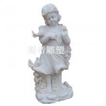 石雕西方人物雕塑雕刻汉白玉大理石石头耶稣小天使雕像出口石雕人物厂家直销