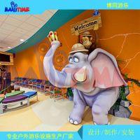 丛林主题办公室装饰设计 儿童主题景观工程卡通主题动物雕塑