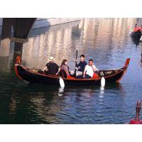 出售6.6米豪华贡多拉船/电动木船/公园观光船服务类船
