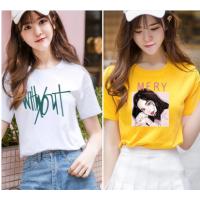 便宜服装纯棉T恤宽松时尚大版短袖两三块钱的短袖女装清货亏本处理