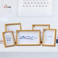 创意简约立体中空相框 创意木质婚纱相框摄影楼装饰摆台桌面摆件