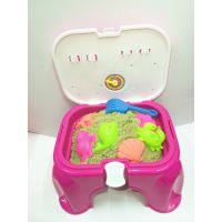 太空玩具沙小凳子沙滩套装 多功能迷你小沙桌 家庭装益智沙滩玩具