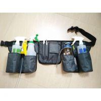 加长版带反光条清洁腰包工具包保洁包餐厅服务员清洁工腰包外墙包
