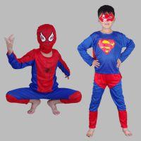 2017新款万圣节儿童表演服儿童超蝙蝠侠套超级英雄蜘蛛侠服装