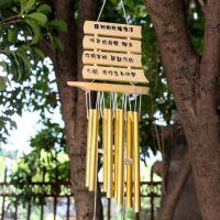 厂家直销木质金属管风铃 创意精品饰品家居装饰挂件 一帆风顺门挡