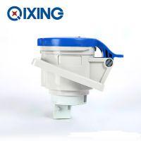 启星QX1463 3P/16A欧标工业暗装斜插座